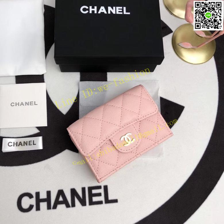 Chanel シャネル レディース 三つ折り財布 ブランドスーパーコピー 国内発送安全 2色
