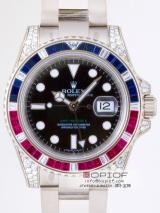 ロレックス ROLEX GMTマスターII 116759SARU サファイヤ・ルビー・ダイヤベゼル ブラック最高品質ロレックス偽物時計