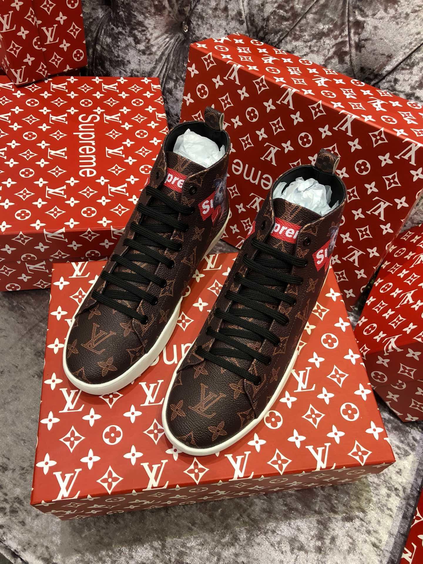 Supreme シュプリーム*ルイヴィトン靴 メンズ 日本国内発送 2色