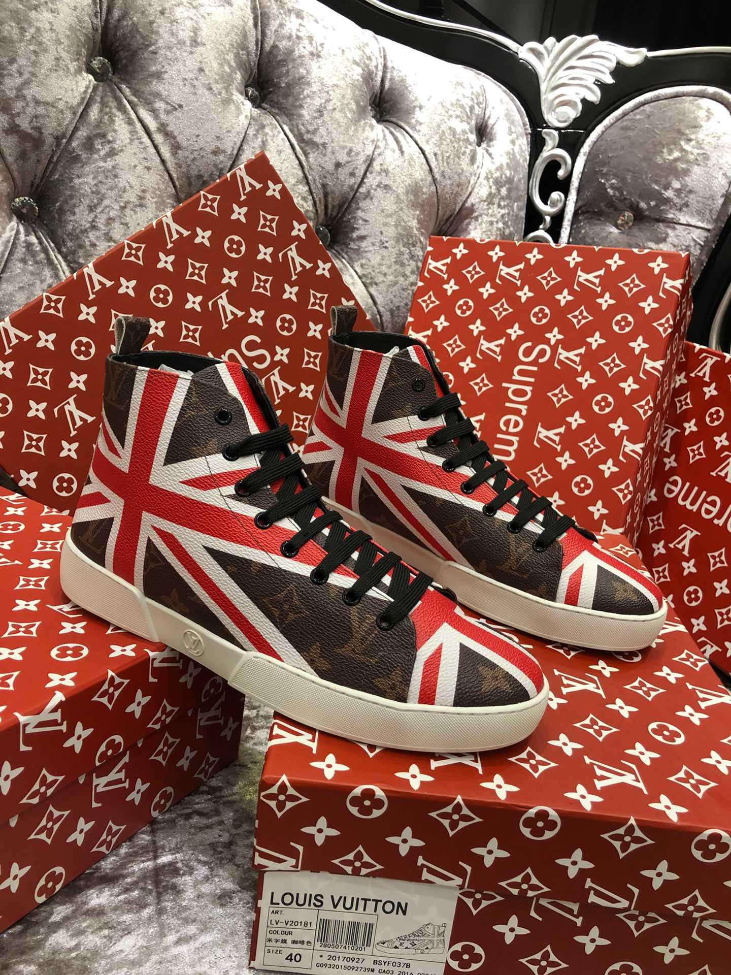 Supreme シュプリーム*ルイヴィトン 靴 メンズ 最新入荷 2色