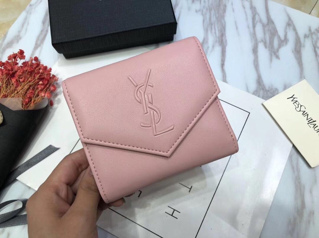 イヴサンローラン 短財布 三つ折り財布 レディース 口コミ 50812 4色