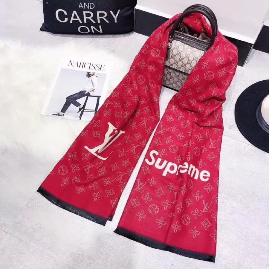 Louis Vuitton*supreme レディース マフラー ブランドコピー 日本国内発送 3色