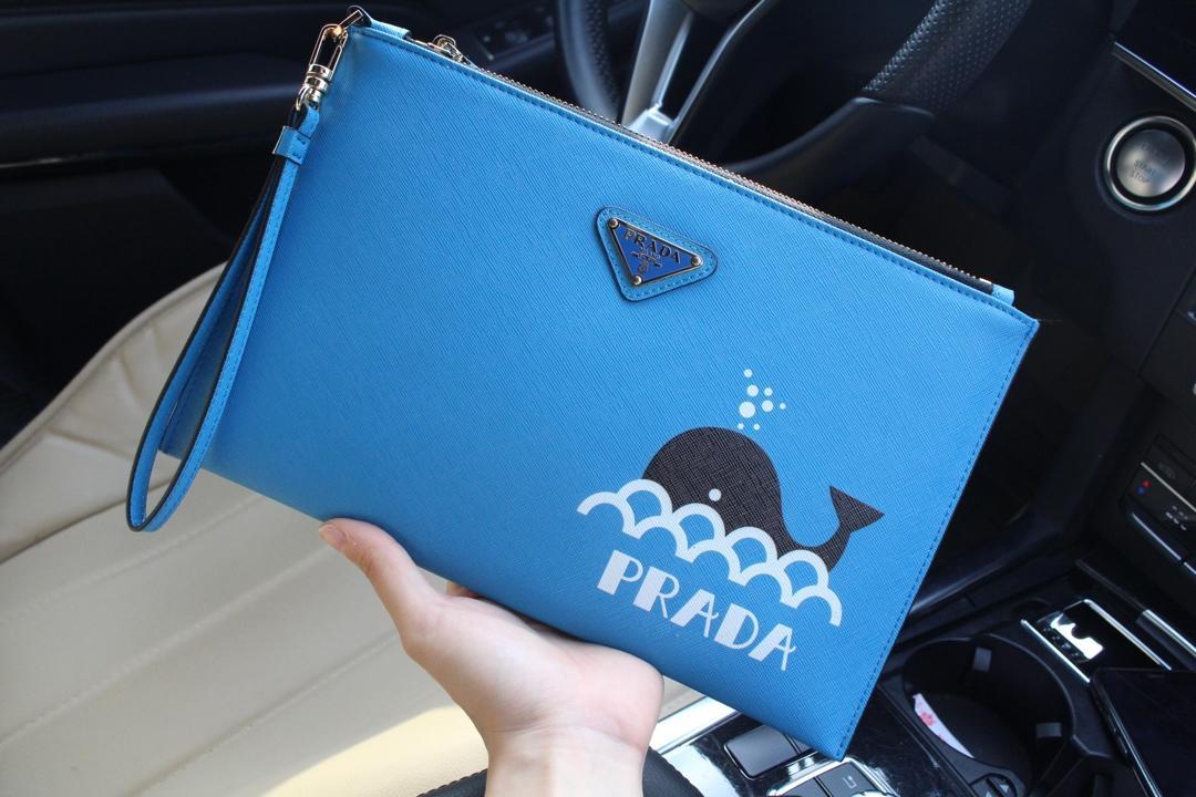 Prada プラダ メンズ クラッチバッグ 2色 代引き後払い 安全必ず届く 通販人気