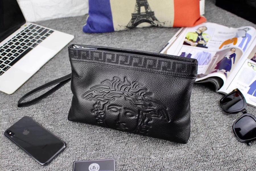 Versaceヴェルサーチ メンズ クラッチバッグ 代引き通販口コミ 送料無料 6107F