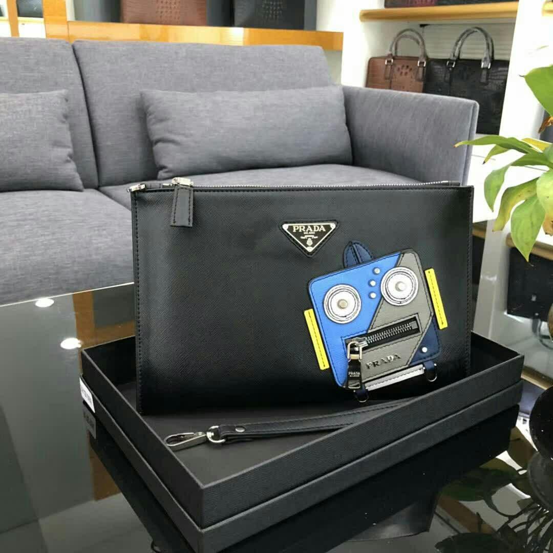 Prada プラダ 2色 メンズ クラッチバッグ 日本国内発送 通販信用できる 0904-1