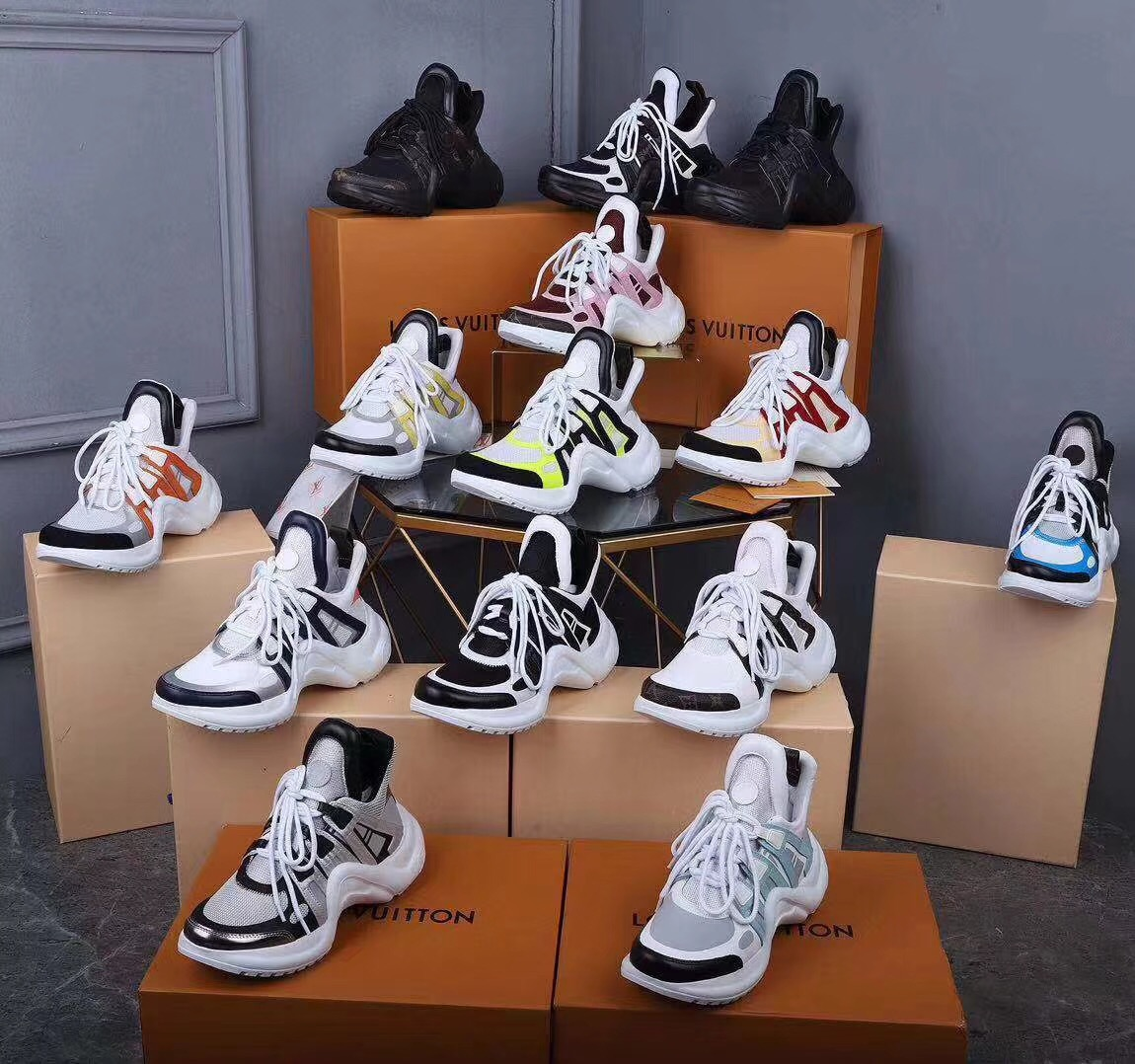 Louis Vuitton ルイヴィトン カップル 靴 代引き日本国内発送 ブランドスーパーコピー 後払い