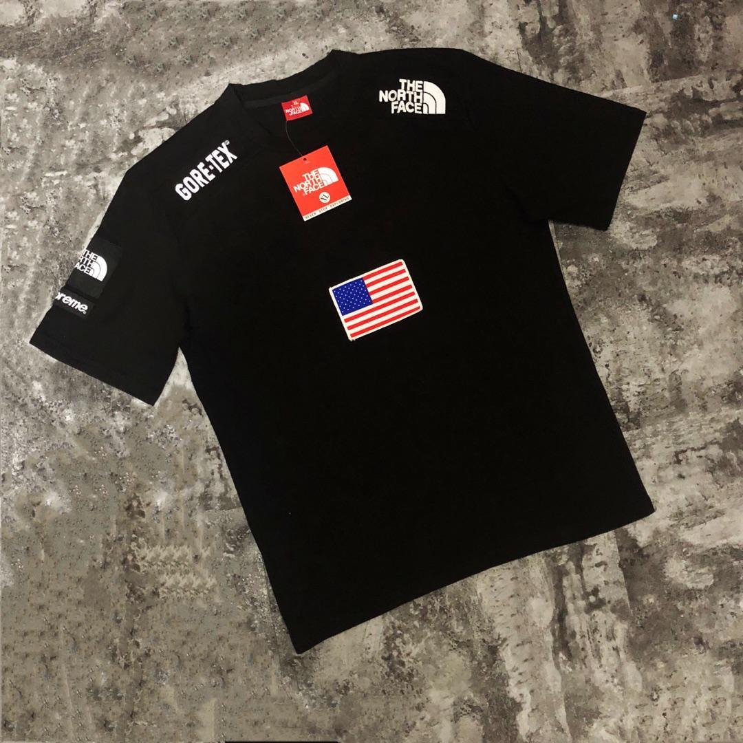 supreme*ノースフェイス カップル Tシャツ 2色 おすすめ 安全サイト 代引き対応
