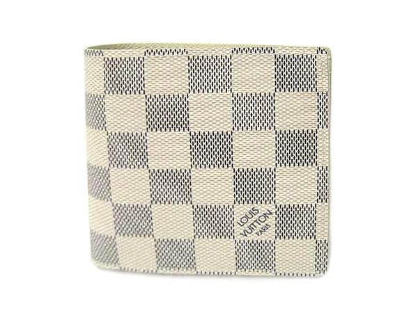 ルイヴィトン財布 N60018 ダミエアズール メンズ二折り小銭財布 ポルトフォイユマルコ