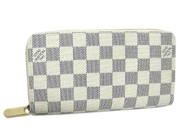 ルイヴィトン財布N60019ダミエアズール ラウンドジップ長財布 ジッピーウォレット