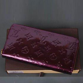 ルイヴィトン 2017美品 lv60017-Purpleルイヴィトンヴェルニ財布