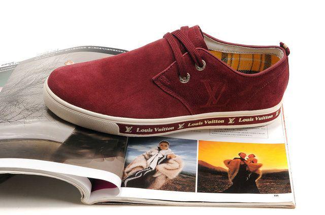 ルイヴィトン  靴  スニーカー 赤/ホワイトLOUISVUITTON21