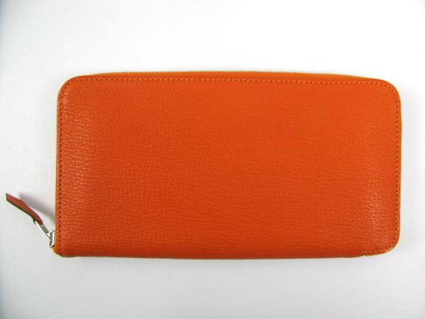 エルメス アザップロング □P刻印 2016年製造 オレンジ シェーブル2104100862938