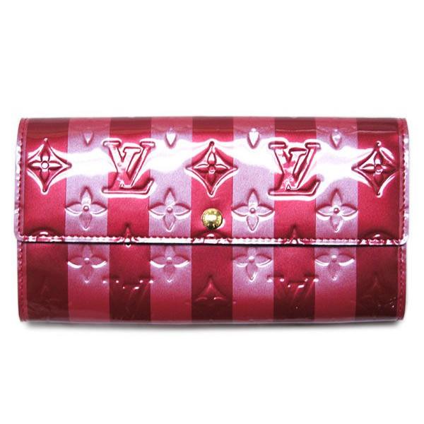 ルイヴィトン ヴェルニ 財布 M91716 長札ファスナー ポルトフォイユサラ ポムダムールレイユール