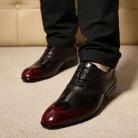 サルヴァトーレフェラガモ カーフ メンズ ドレスシューズ ビズネスシューズ 紳士靴 レースアップ ワインレッド×ブラック  FG275044-1