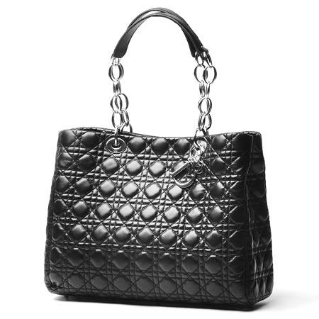 Christian Dior キルティングラムレザー ショルダーバッグcal44956 n0レディース レディ・ディオール ブラック
