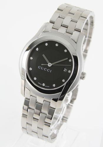 グッチ GQ5505 ダイヤインデックス ブラック ラージ YA055213