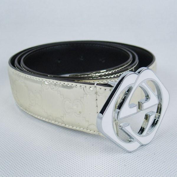 GUCCIグッチベルトスーパーコピー GG型押し エナメル シルバー金具 belt-49