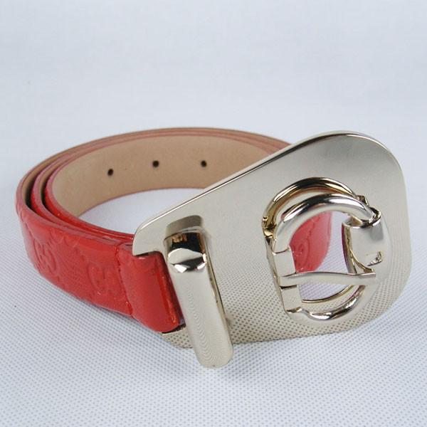 GUCCIグッチスーパーコピー GG型押し エナメル シルバー金具 belt-46
