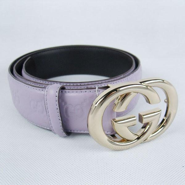 GUCCIグッチスーパーコピー GG型押し エナメル ゴールド金具 belt-42