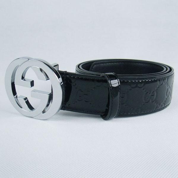 GUCCIグッチスーパーコピー GG型押し エナメル シルバー金具 belt-28