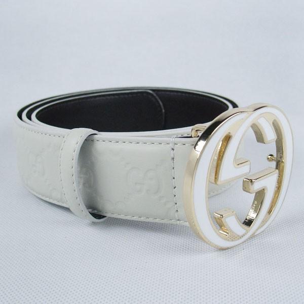 GUCCIグッチスーパーコピー GG型押し エナメル  ベルト シルバー金具 belt-14