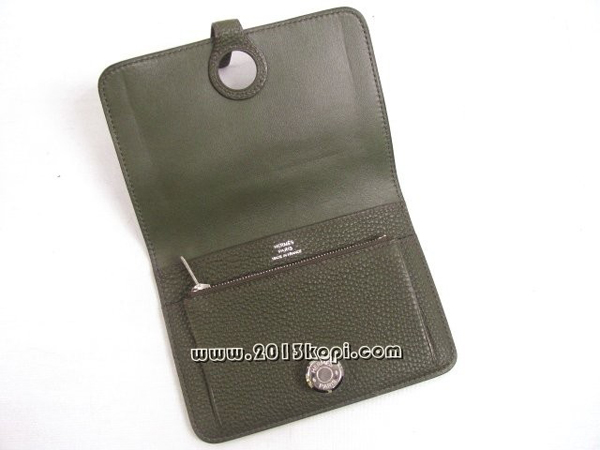 エルメス ドゴンコンパクト 折財布トゴ ヴェールヴェネローゼ金具 シルバー 2104100836410