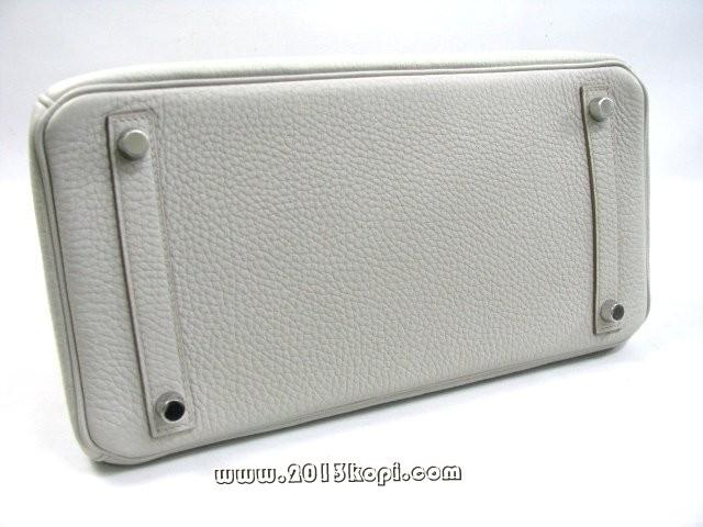 エルメス バーキン30トゴ/グレーパール シルバー金具 商品番号 hms193