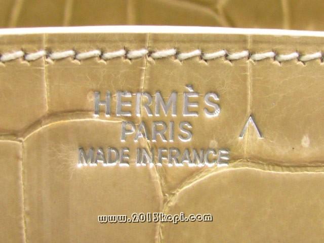 エルメス バーキン30クロコダイルポロサス/ベージュ hms178