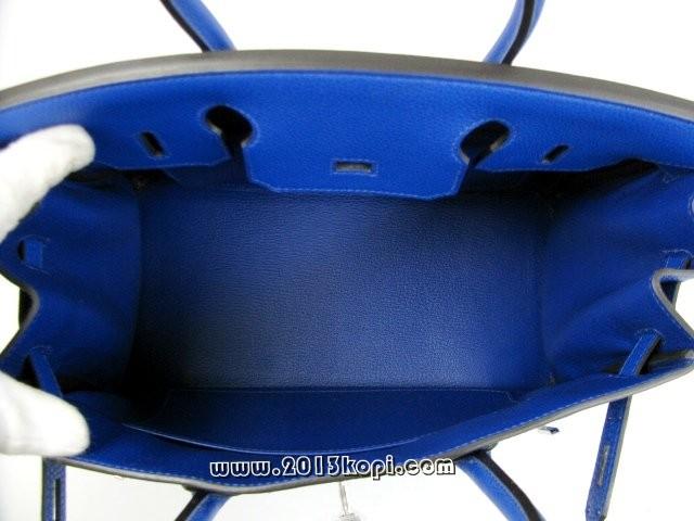 エルメス バーキン30トゴ/ブルーエレクトリック 金具 シルバー金具 hms173