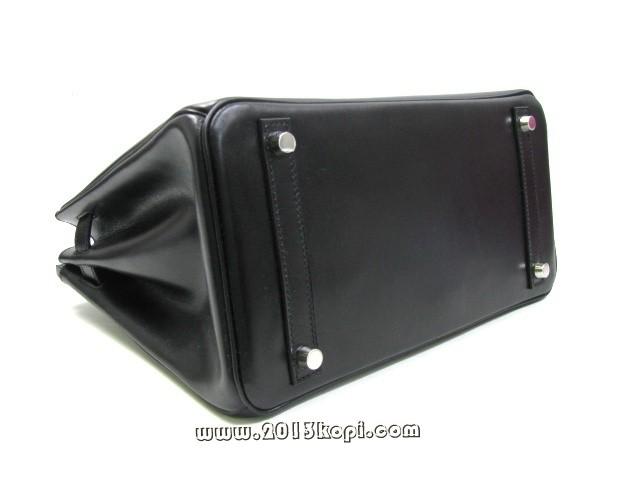 エルメス バーキン30ボックスカーフ/ブラック 金具 シルバー hms167