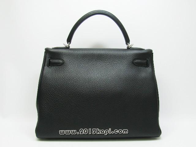 エルメス ケリー32 内縫い トリヨンクレマンス/ブラック 金具 シルバー 2106800020687