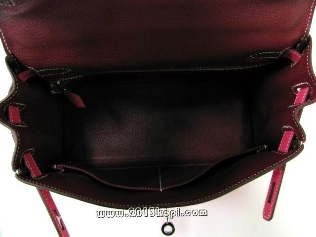 エルメス ケリー28 内縫い ヴォーエプソン/ローズティリアン シルバー金具 2104100701923
