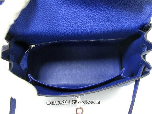 エルメス ケリー25 内縫い トゴ/ブルーエレクトリック 金具 シルバー 2104100790552