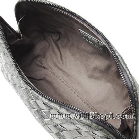 ボッテガ ヴェネタ 132534 vq671 8464コスメポーチ 濃淡のグレー レディース
