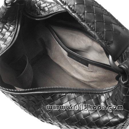 ボッテガ ヴェネタ181347 vq130 1000 イントレチャートのレザーショルダーバッグ レディース ブラック