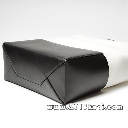 セリーヌ レザー トートバッグ 16555 7khe 01bcブラック×ホワイト レディース