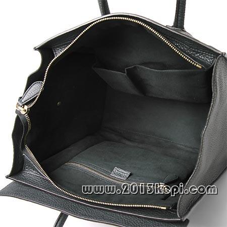 セリーヌ レザーハンドバッグ16521 3gfl 10anラゲージ ミニショッパー チャコールグレー レディース