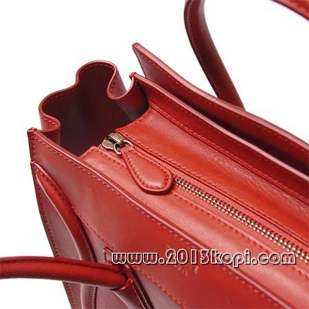 セリーヌ レザーハンドバッグ 16779-3hsc-27lkラゲージ マイクロショッパー レッド レディース