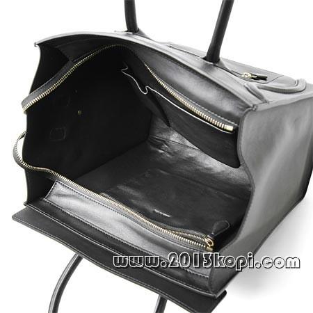 セリーヌ レザーハンドバッグ16521 3hsc 38noラゲージ ミニショッパー ブラック レディース