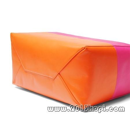 セリーヌ レザー トートバッグ16926 3ebt 27hbショッキングピンク×オレンジ レディース