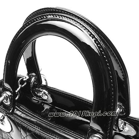 クリスチャン ディオール vrb44551 noロゴチャーム付きバッグ レディ・ディオール レディース エナメルブラック