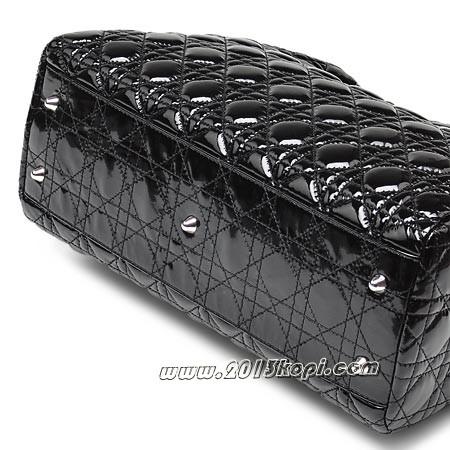 クリスチャン ディオール キルティングハンドバッグ mo956 pvrk m900レディ・ディオール レディース エナメルブラック