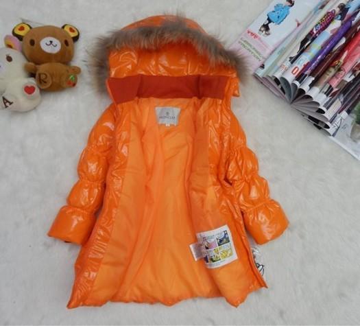 モンクレール キッズ ロングコート moncler-k051 オレンジ
