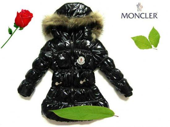 モンクレール キッズ ロングコート moncler-k054 ブラック
