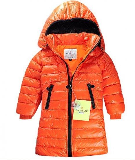 モンクレール キッズ ロングコート moncler-k059 オレンジ