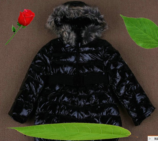 モンクレール キッズ ロングコート moncler-k074 ブラック