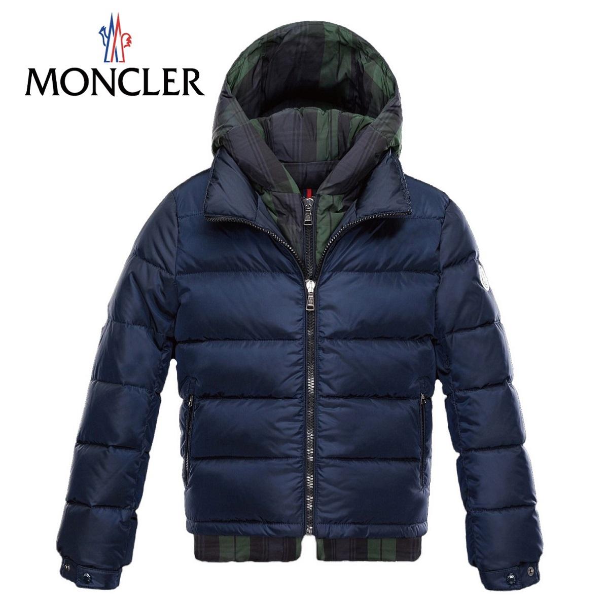 モンクレール[MONCLER] 2015-2016年秋冬 チェックとの重ね着風ダウンジャケット ダウン ジュニア キッズ ベビー