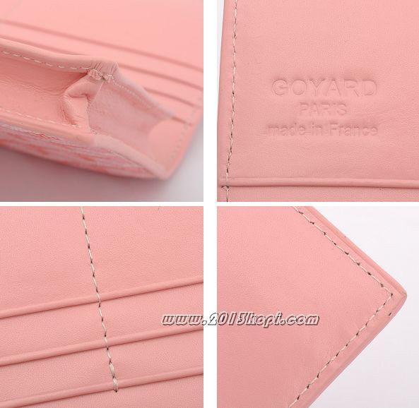 GOYARD ゴヤール 長財布 二つ折り ピンク ga045