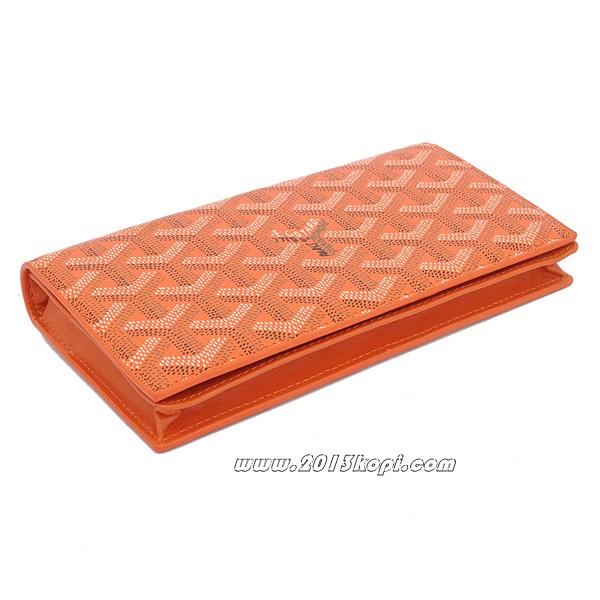 GOYARD ゴヤール 長財布 二つ折り オレンジ ga043