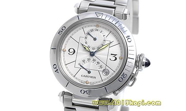 カルティエ パシャ38mm GMT パワーリザーブW656522000